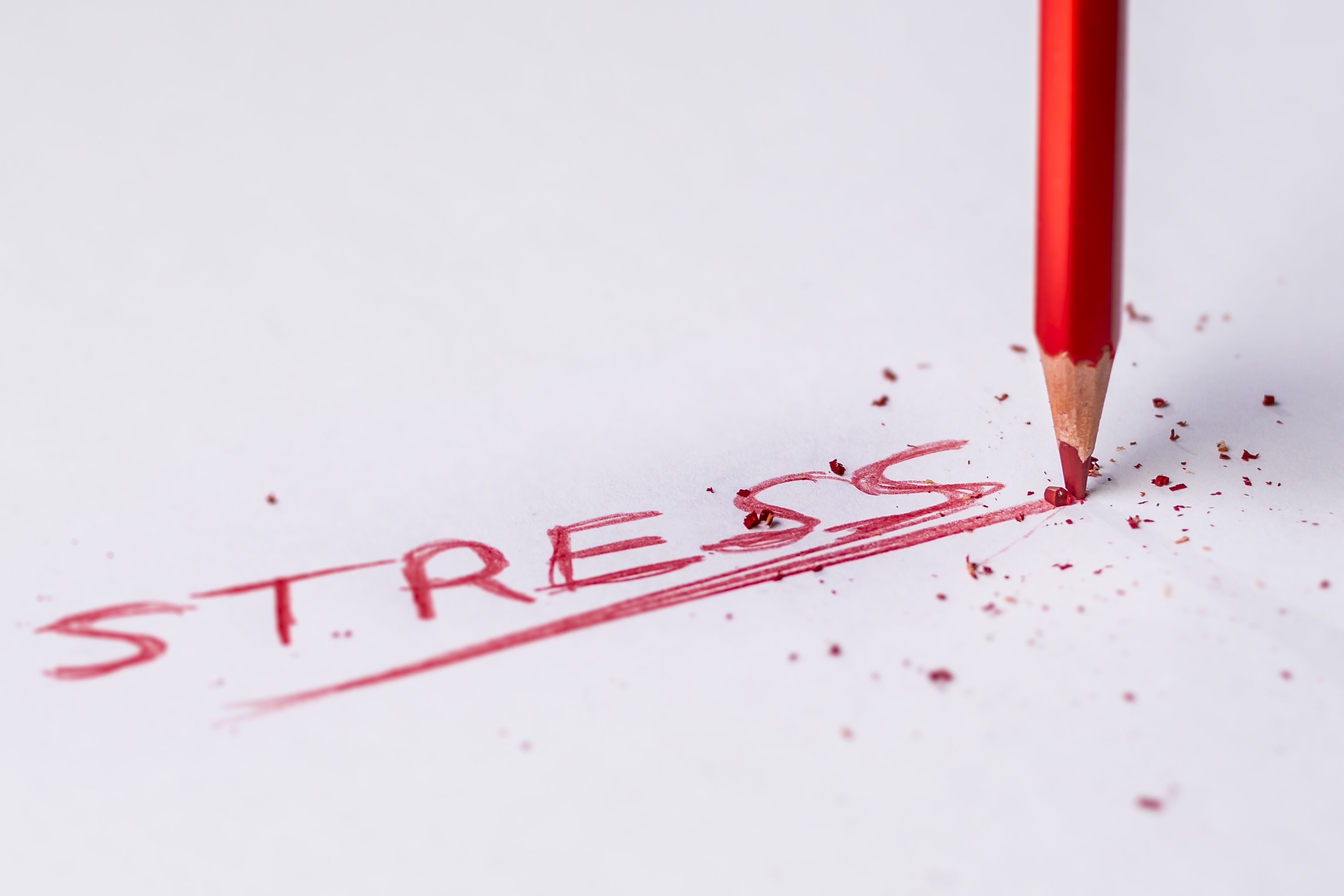 Picture of the word stress
